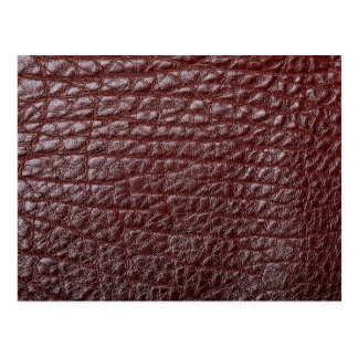 Brown leather postcard