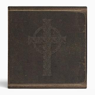 Brown Leather Print Cross Binders
