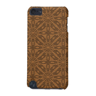 Brown Leather Print Geometric Pattern GR10 iPod Touch (5th Generation) Case