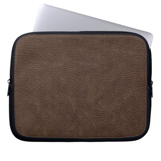 Brown Leather Print Texture Pattern Computer Sleeve