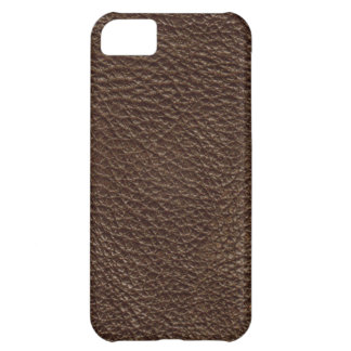Brown Leather Print Texture Pattern Cover For iPhone 5C