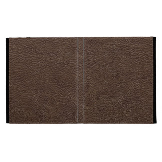 Brown Leather Print Texture Pattern iPad Folio Cover