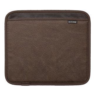 Brown Leather Print Texture Pattern iPad Sleeve