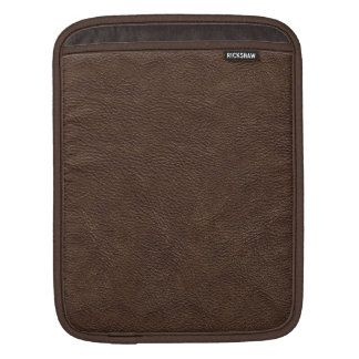 Brown Leather Print Texture Pattern iPad Sleeves
