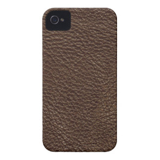 Brown Leather Print Texture Pattern iPhone 4 Case-Mate Case