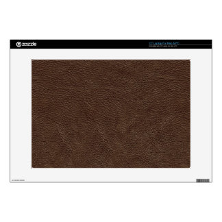 Brown Leather Print Texture Pattern Laptop Decal