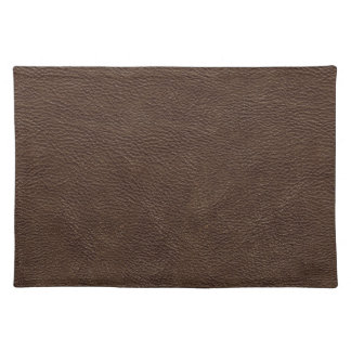 Brown Leather Print Texture Pattern Placemats