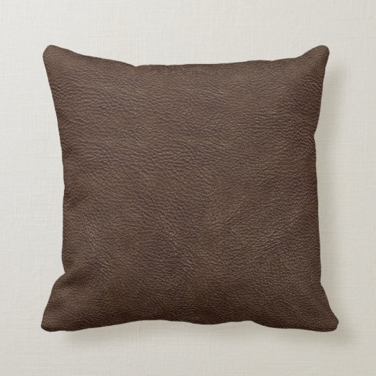 Brown Leather Print Texture Pattern Throw Pillow Zazzle Com