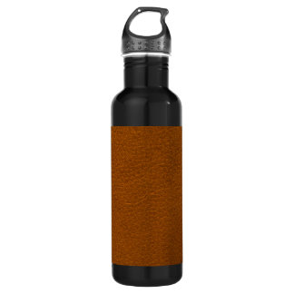 BROWN LEATHER STAINLESS STEEL WATER BOTTLE