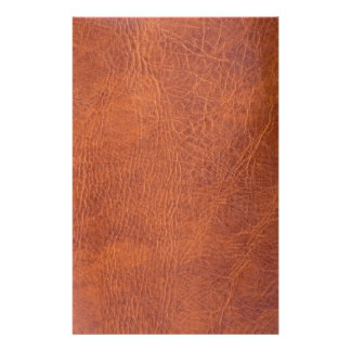 Brown leather stationery