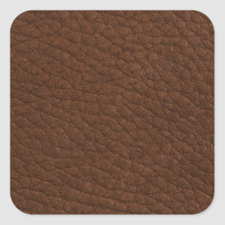 Brown leather square stickers