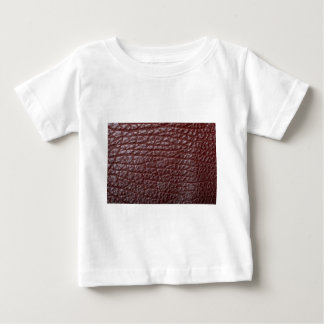 Brown leather t shirt