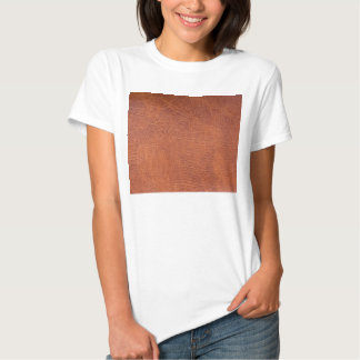 Brown leather t-shirt