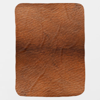 Brown Leather Texture Baby Blanket
