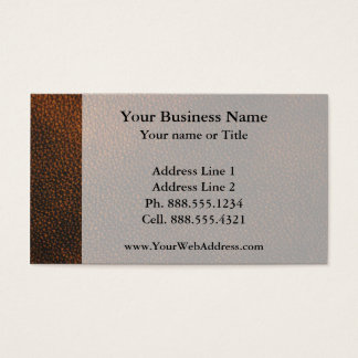 Brown Leather Texture Business Card