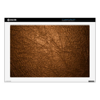 brown leather texture laptop decal