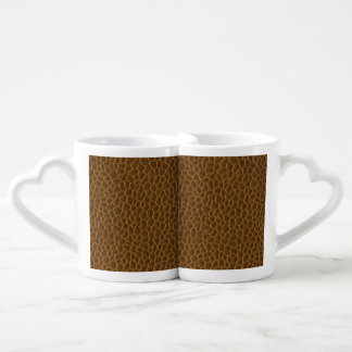Brown Leather Texture Lovers Mug