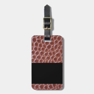Brown leather texture Luggage Tag