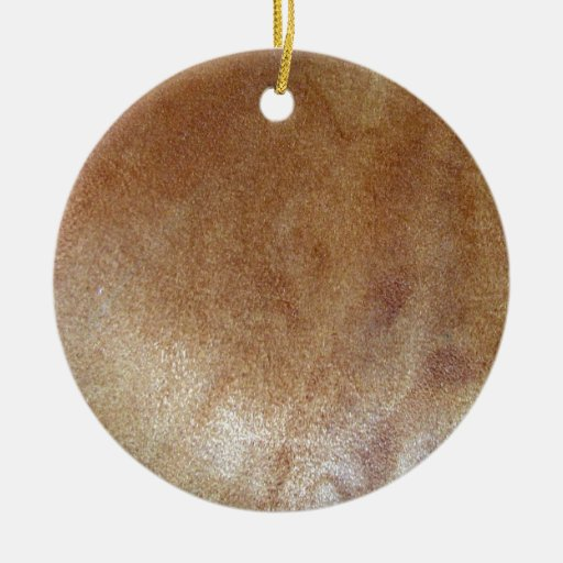 Brown Leather Texture Ornaments