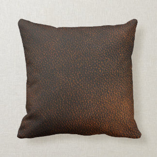 Brown Leather Texture Pillows