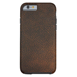 Brown Leather Texture Tough iPhone 6 Case