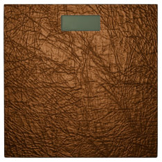 Brown Leather Textures Bathroom Scale at Zazzle