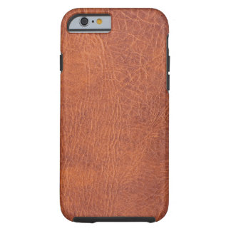 Brown leather tough iPhone 6 case