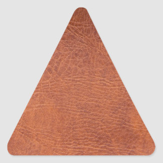 Brown leather triangle sticker