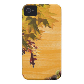 Brown Leaves design for your iphone4 iPhone 4 Cases