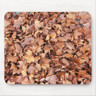 Brown leaves drying in a pile mouse pad