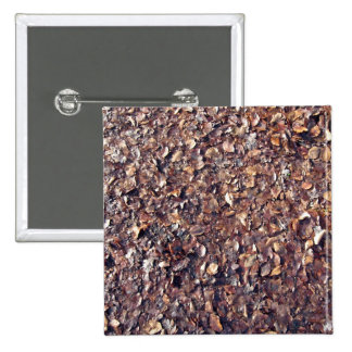 Brown Leaves Texture Pinback Buttons