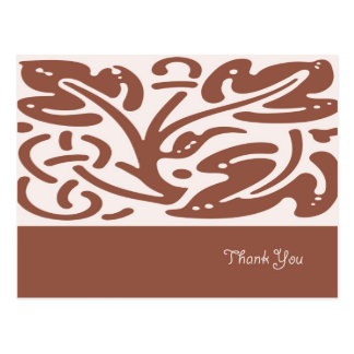 Brown Leaves Thank You Card