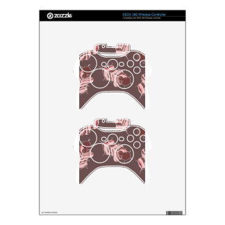 brown leaves xbox 360 controller skin