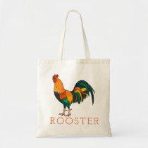 Brown Leghorn Rooster Tote Bag