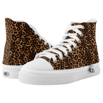 Brown Leopard Animal Patterns High-Top Sneakers