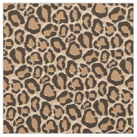 Brown Leopard Animal Print Fabric