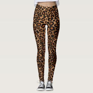 Brown Leopard Animal Print Leggings
