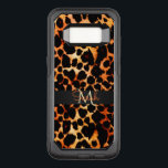 "Brown Leopard Animal Print Monogram OtterBox Commuter Samsung Galaxy S8 Case<br><div class=""desc"">Rich Brown Leopard Animal Print Monogram Otterbox Samsung Galaxy S8 Commuter Case. Soft cyan blue and black leopard print with monogram. Fill in your name and initial at the prompt to make it yours.</div>"