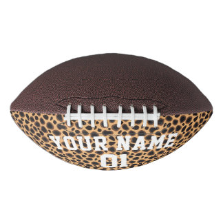 Brown Leopard Animal Print Personalized Football