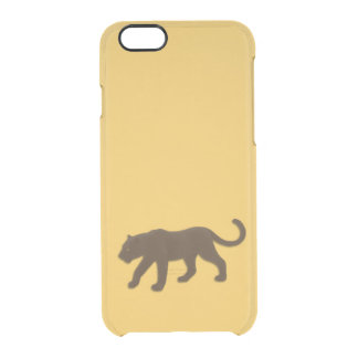 Brown Leopard Gold Clear iPhone 6/6S Case