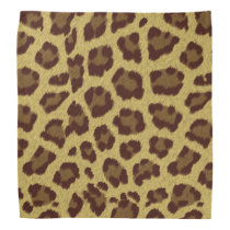 Brown Leopard Print Bandanna