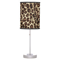 Brown Leopard Print - Classic Stylish Desk Lamp