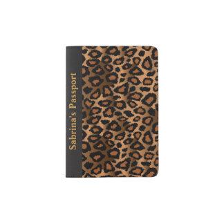Brown Leopard Print | Personalize Passport Holder
