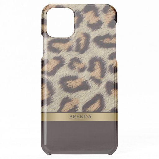 Brown leopard spots pattern fur texture iPhone 11 pro max case