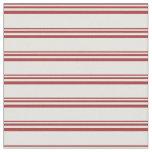[ Thumbnail: Brown & Light Cyan Colored Stripes Pattern Fabric ]