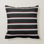 [ Thumbnail: Brown, Light Cyan, Dark Gray, and Black Lines Throw Pillow ]