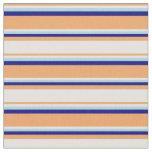 [ Thumbnail: Brown, Light Cyan, Light Blue, and Blue Pattern Fabric ]