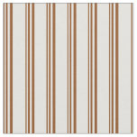 [ Thumbnail: Brown & Light Cyan Lines Fabric ]