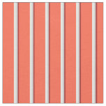 [ Thumbnail: Brown, Light Gray, White, and Red Lines Pattern Fabric ]