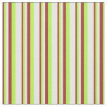 [ Thumbnail: Brown, Light Green, and Mint Cream Lines Fabric ]